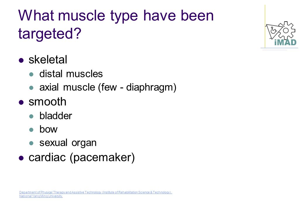What muscle type have been targeted