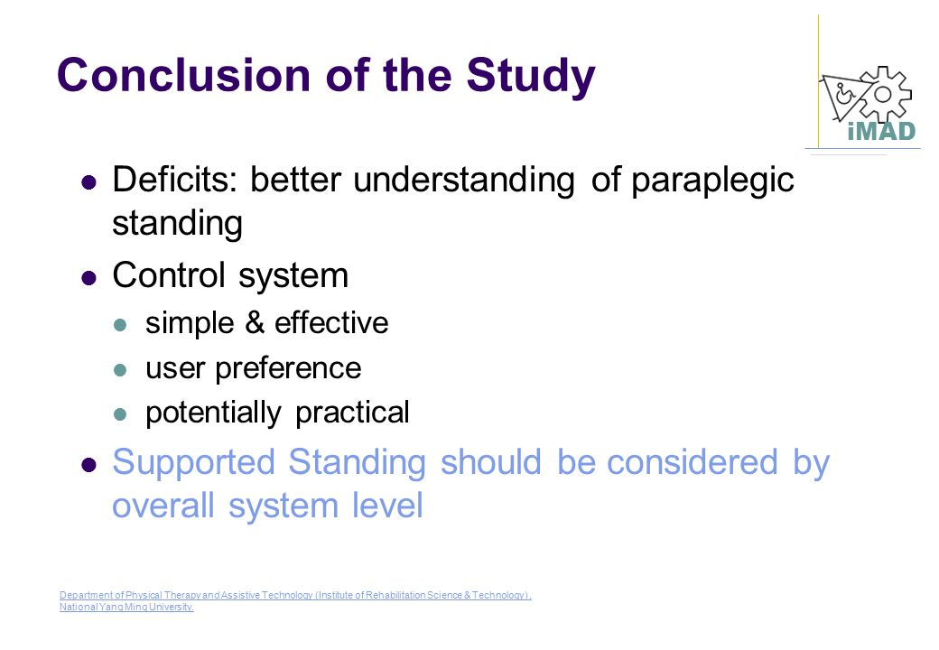 Conclusion of the Study