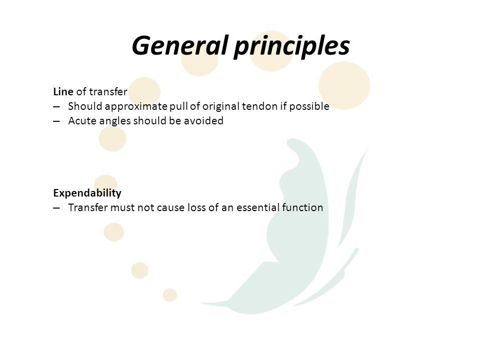 General principles Line of transfer