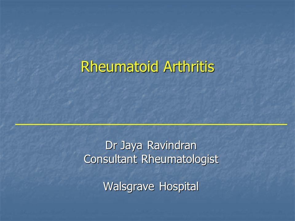 Dr Jaya Ravindran Consultant Rheumatologist Walsgrave Hospital