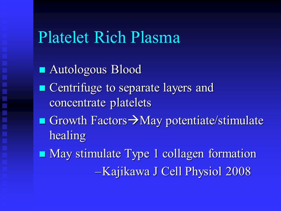 Platelet Rich Plasma Autologous Blood