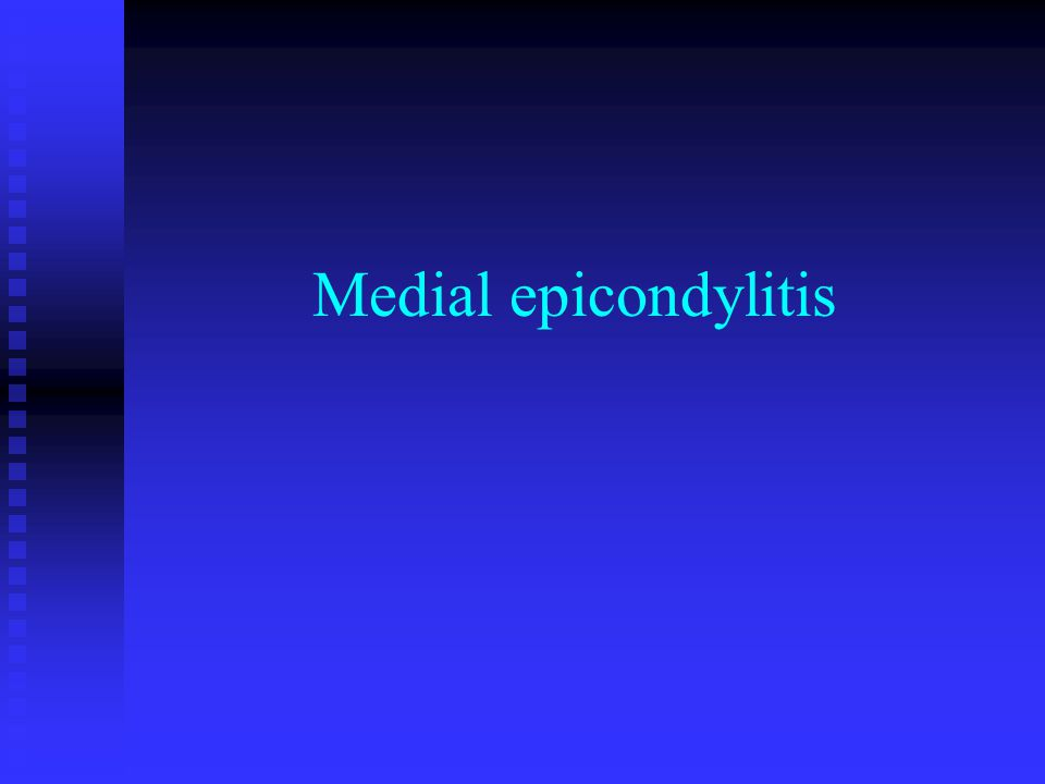 Medial epicondylitis