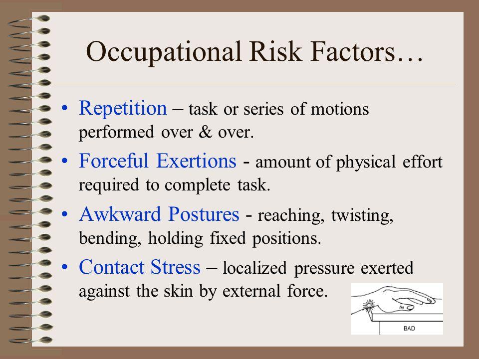 Occupational Risk Factors…