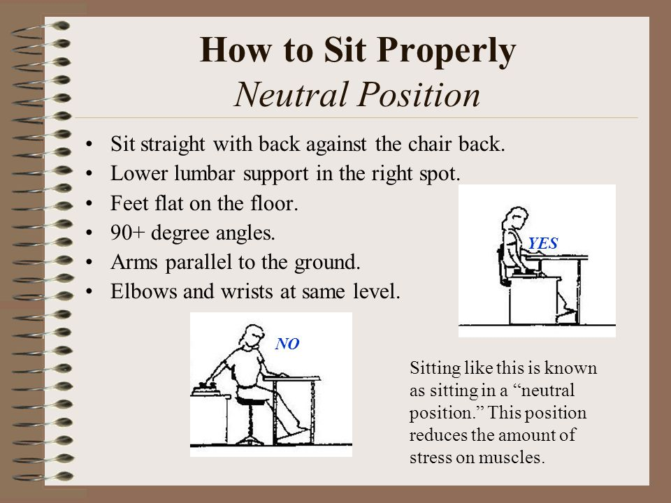 How to Sit Properly Neutral Position