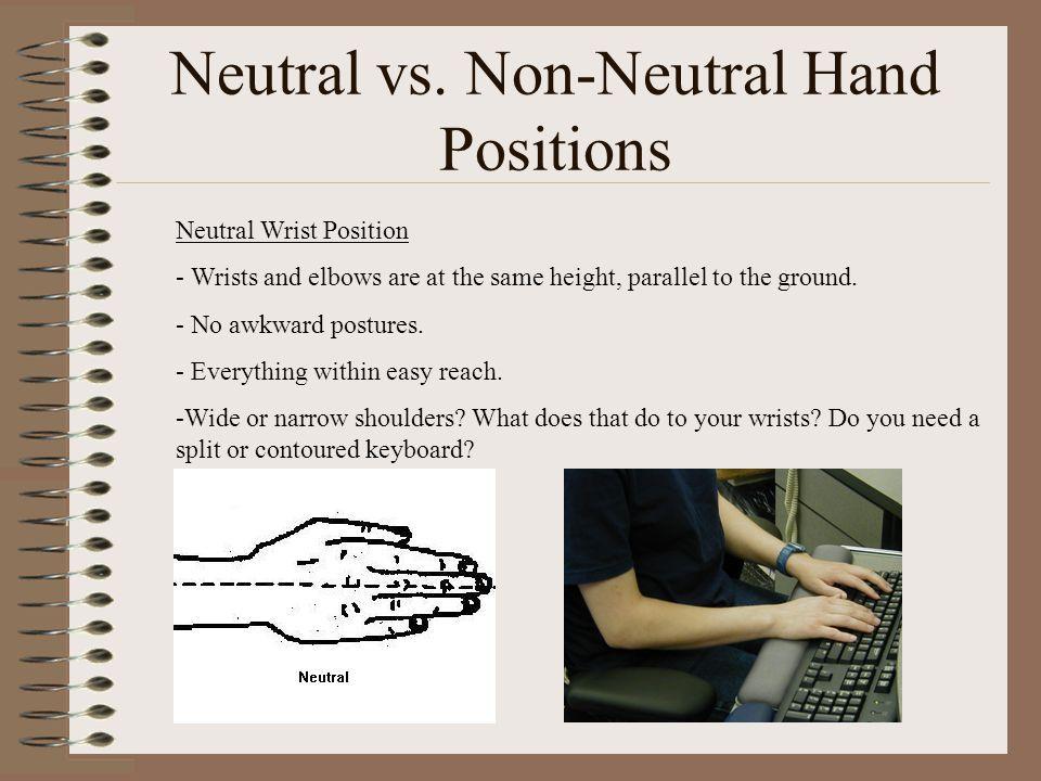 Neutral vs. Non-Neutral Hand Positions