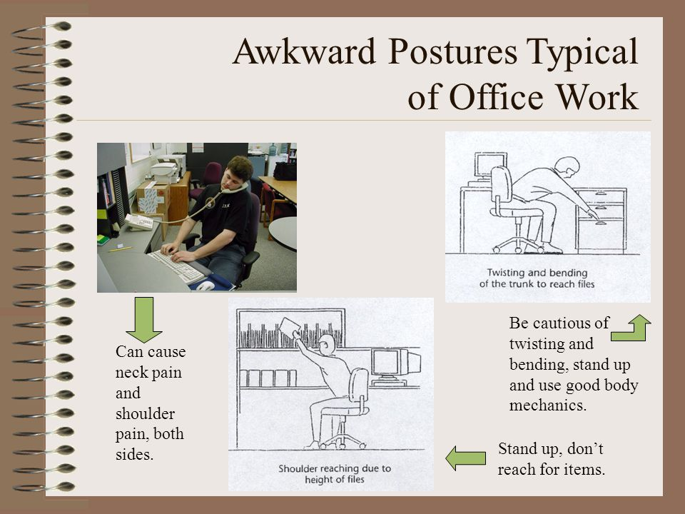 Awkward Postures Typical of Office Work