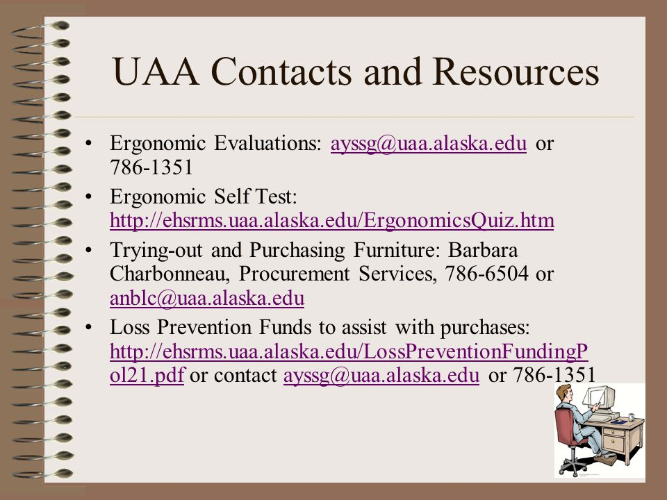 UAA Contacts and Resources