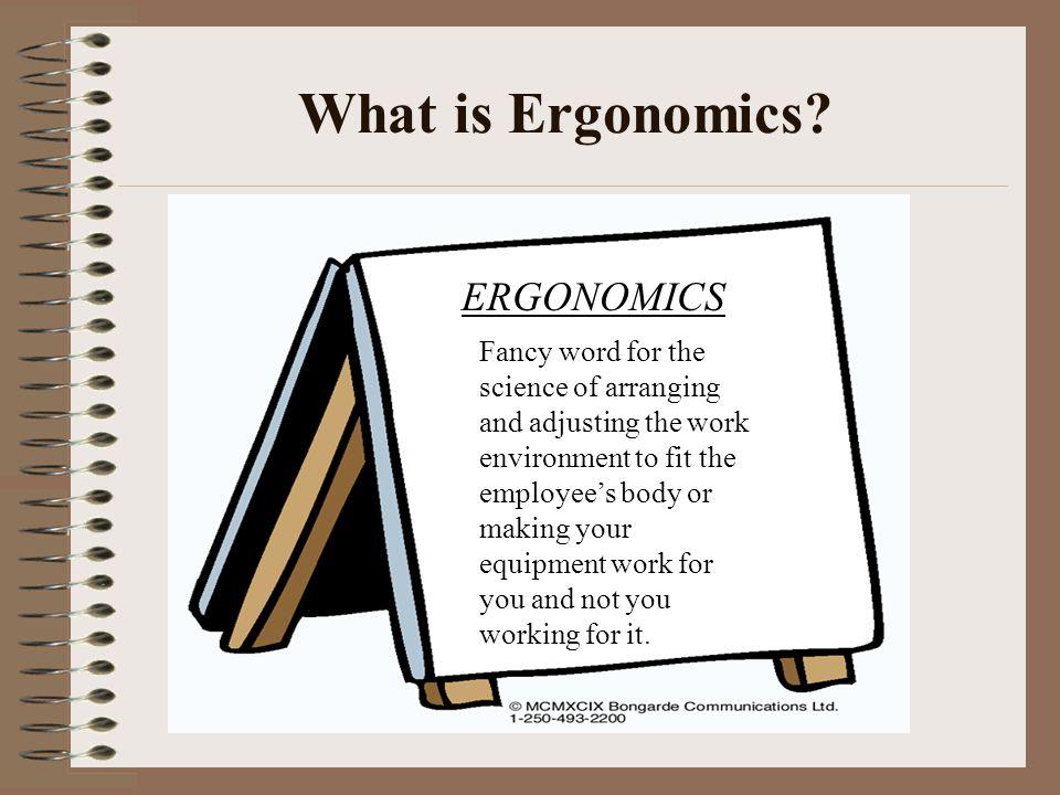 What is Ergonomics ERGONOMICS