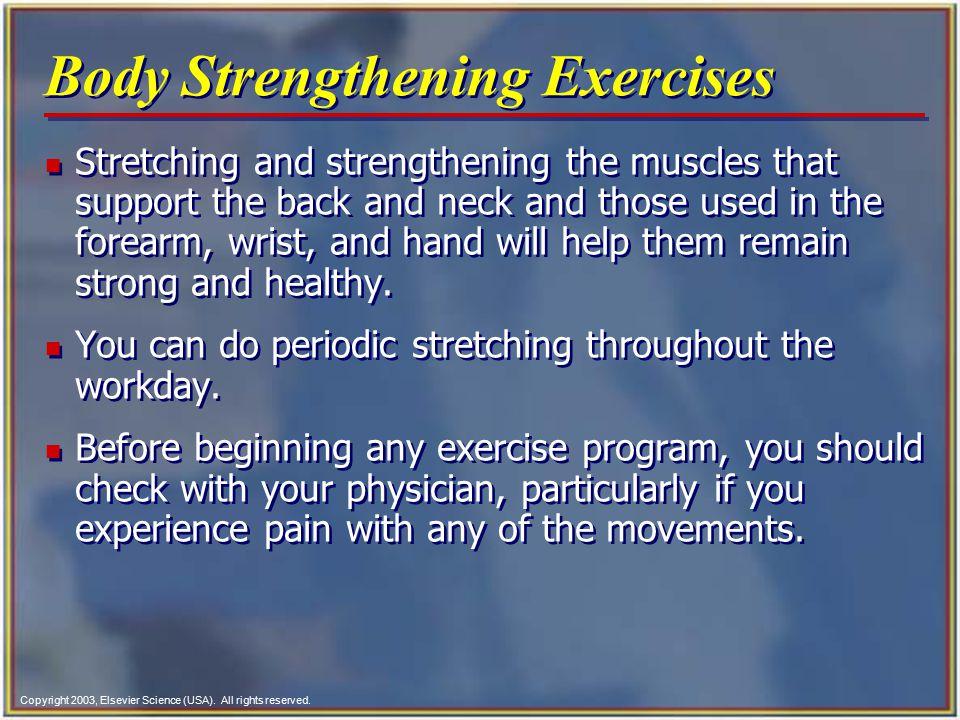 Body Strengthening Exercises