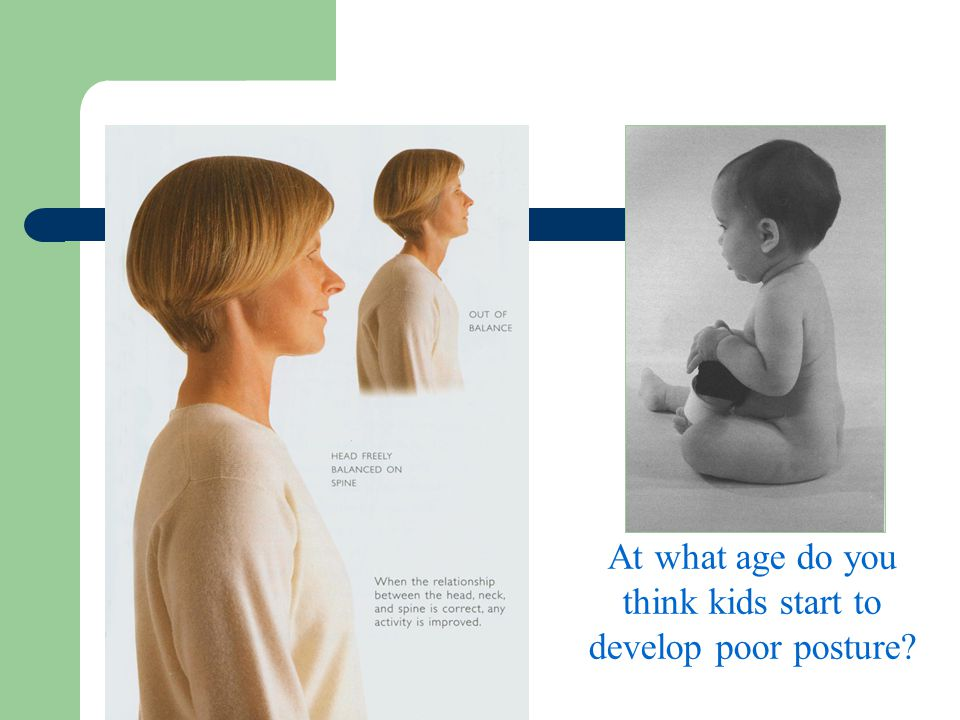 At what age do you think kids start to develop poor posture