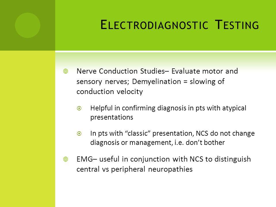 Electrodiagnostic Testing