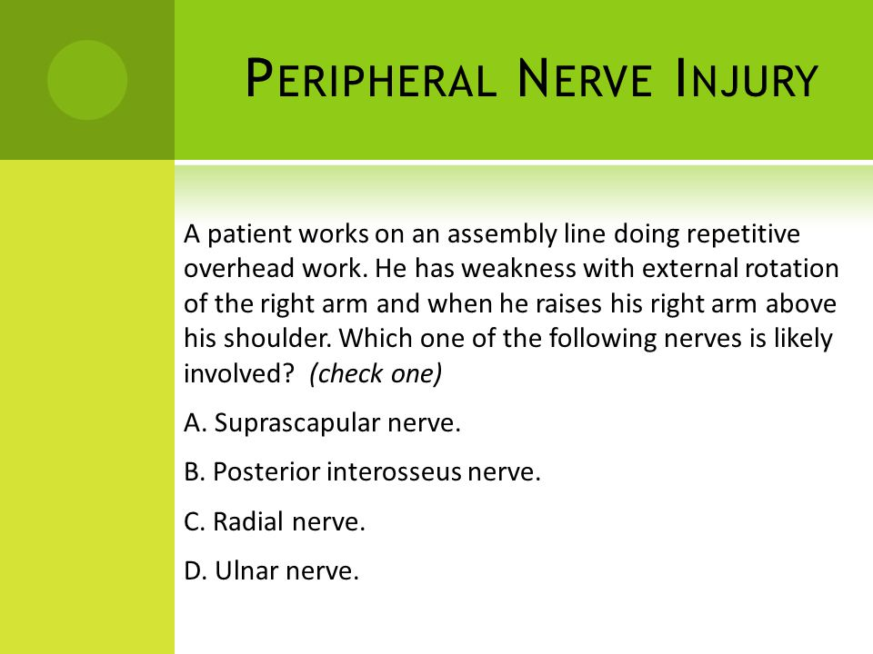 Peripheral Nerve Injury