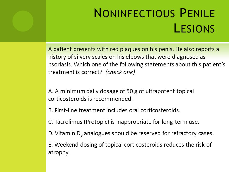 Noninfectious Penile Lesions