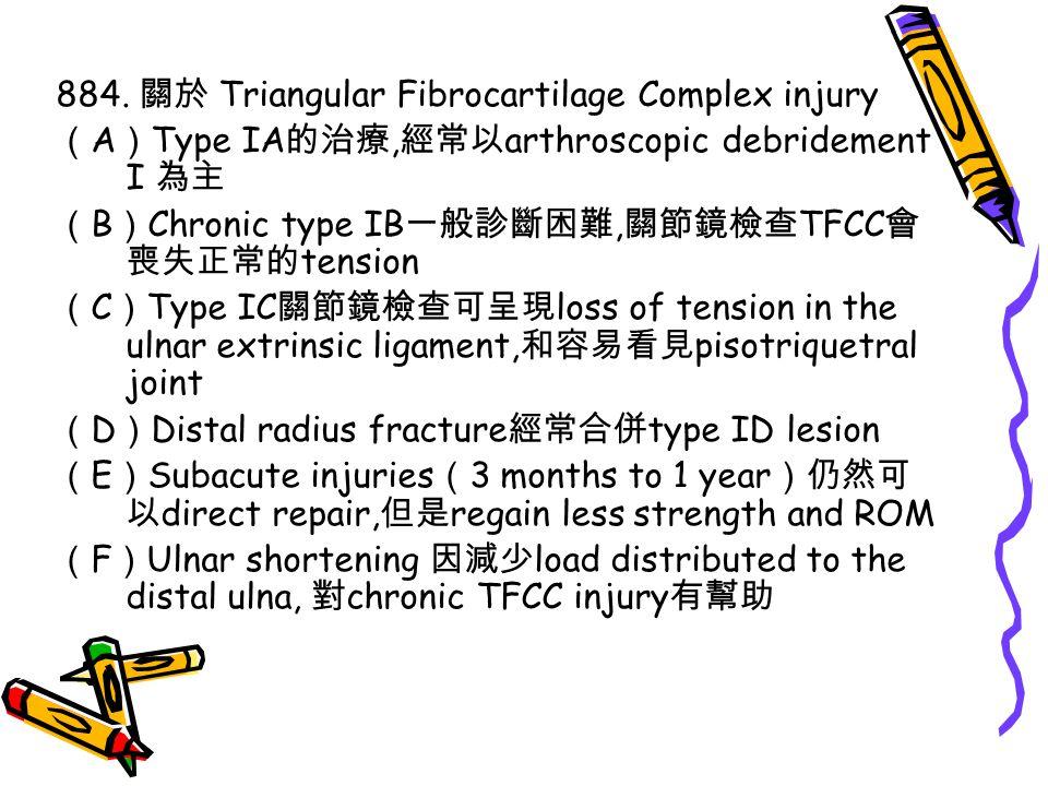 884. 關於 Triangular Fibrocartilage Complex injury
