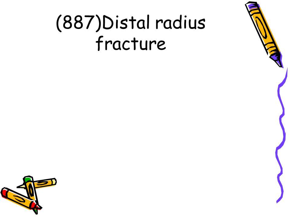 (887)Distal radius fracture