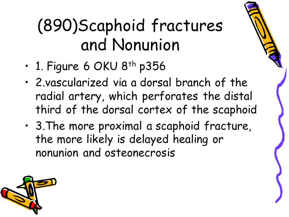 (890)Scaphoid fractures and Nonunion