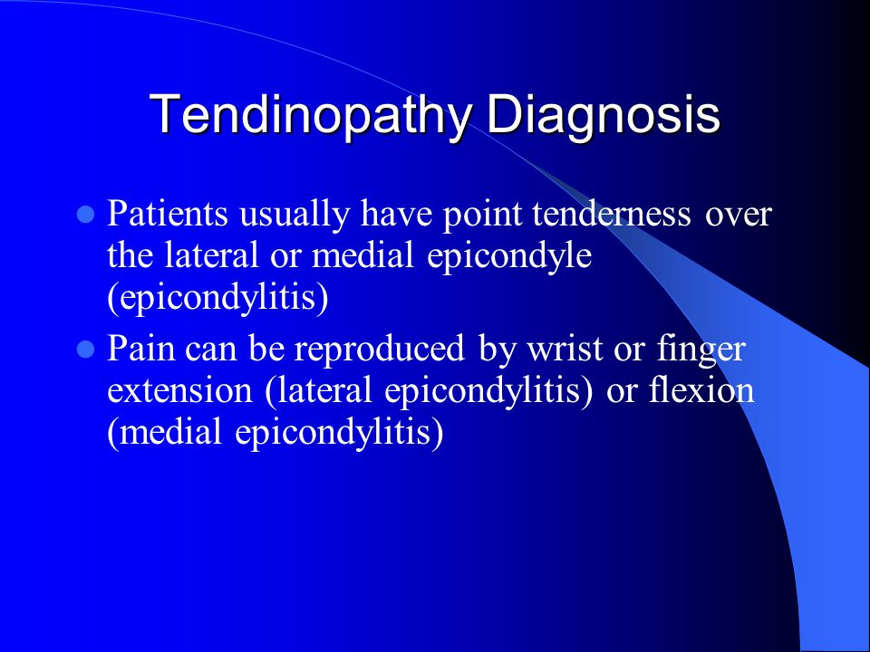 Tendinopathy Diagnosis