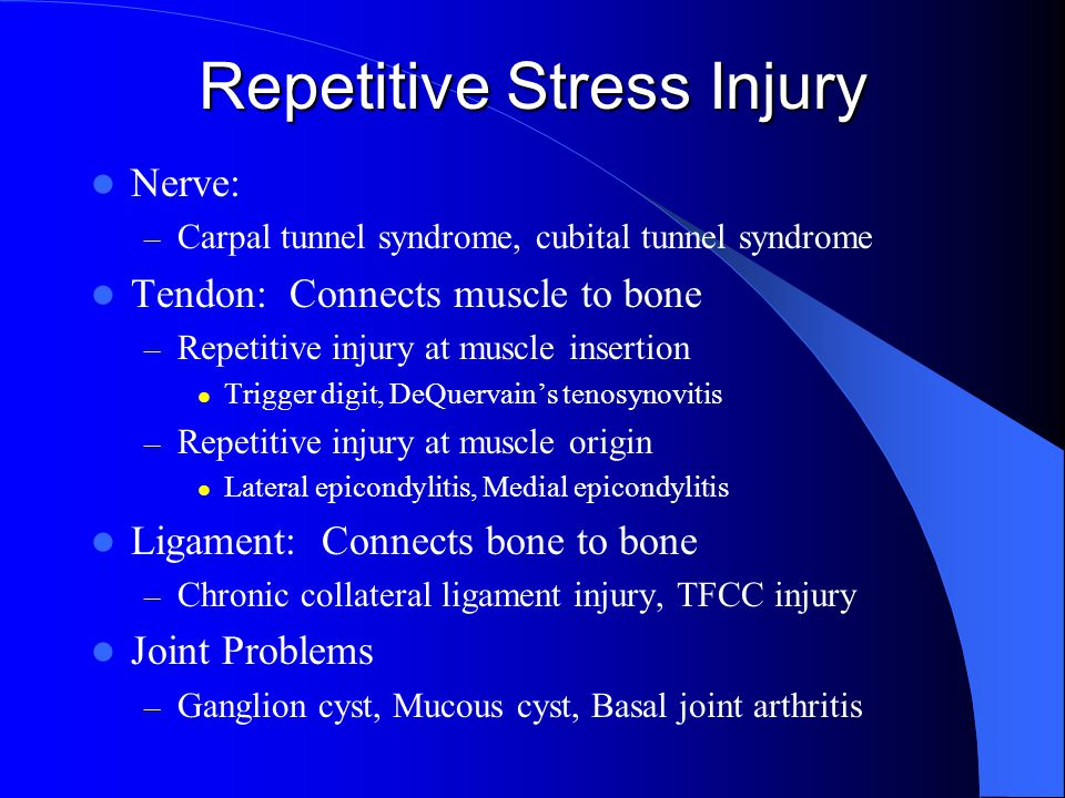 Repetitive Stress Injury