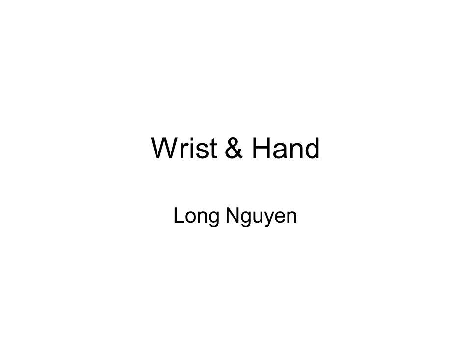 Wrist & Hand Long Nguyen