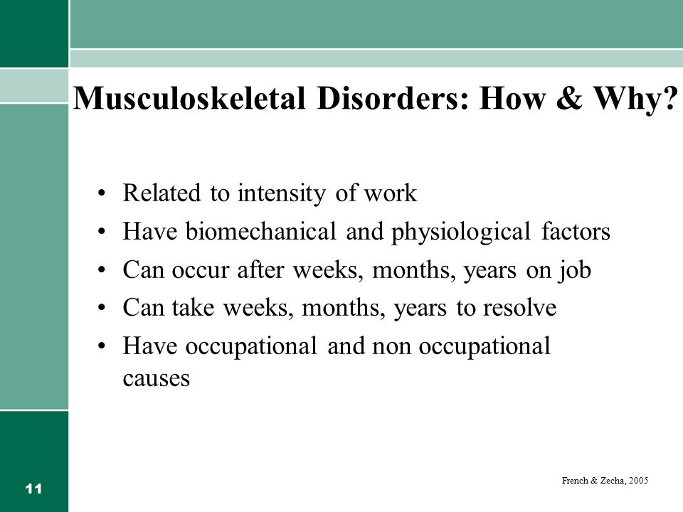 Musculoskeletal Disorders: How & Why