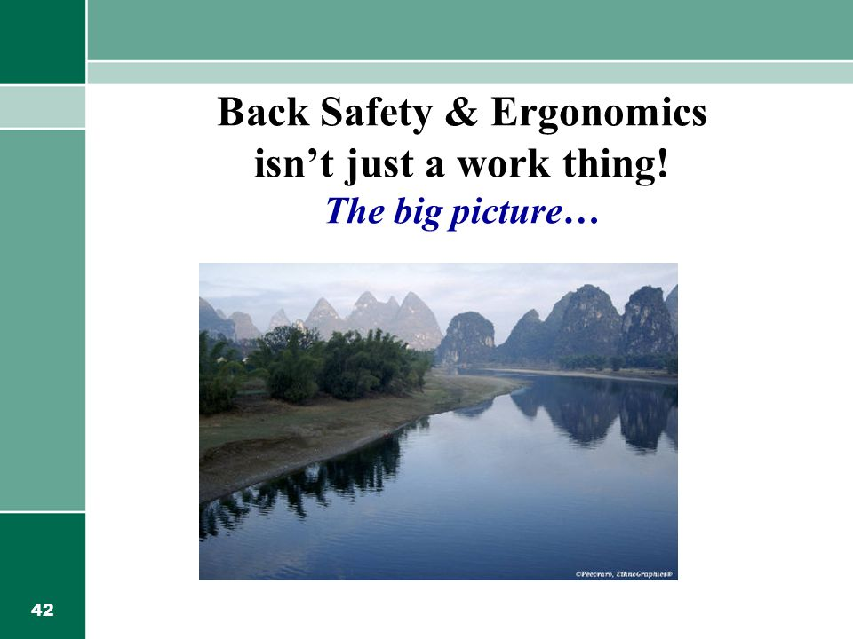 Back Safety & Ergonomics isn't just a work thing! The big picture…