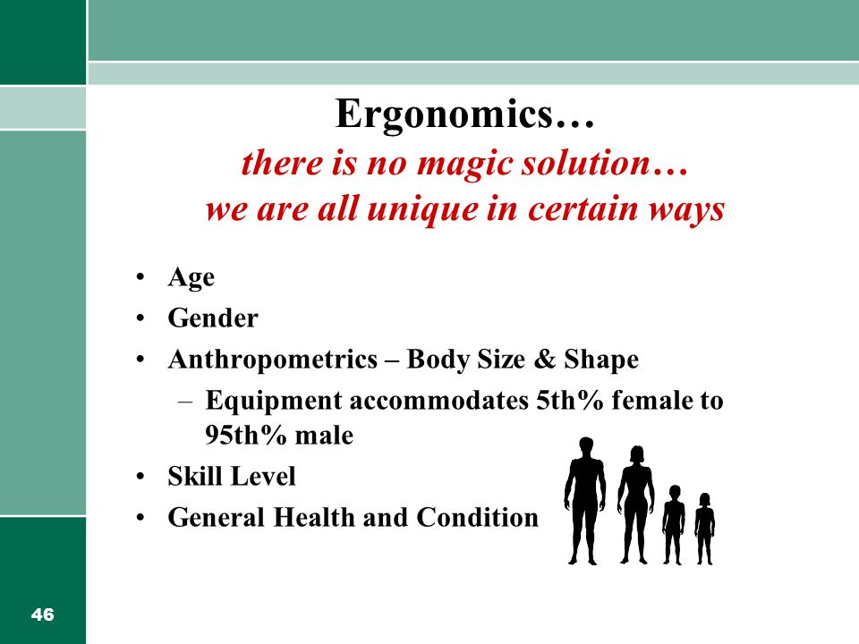Ergonomics… there is no magic solution… we are all unique in certain ways