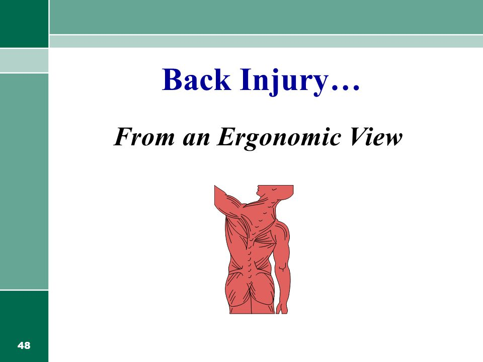 Back Injury… From an Ergonomic View