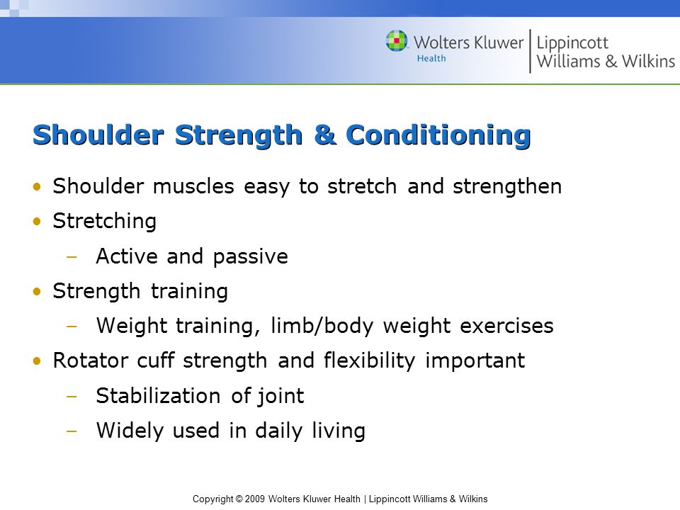 Shoulder Strength & Conditioning