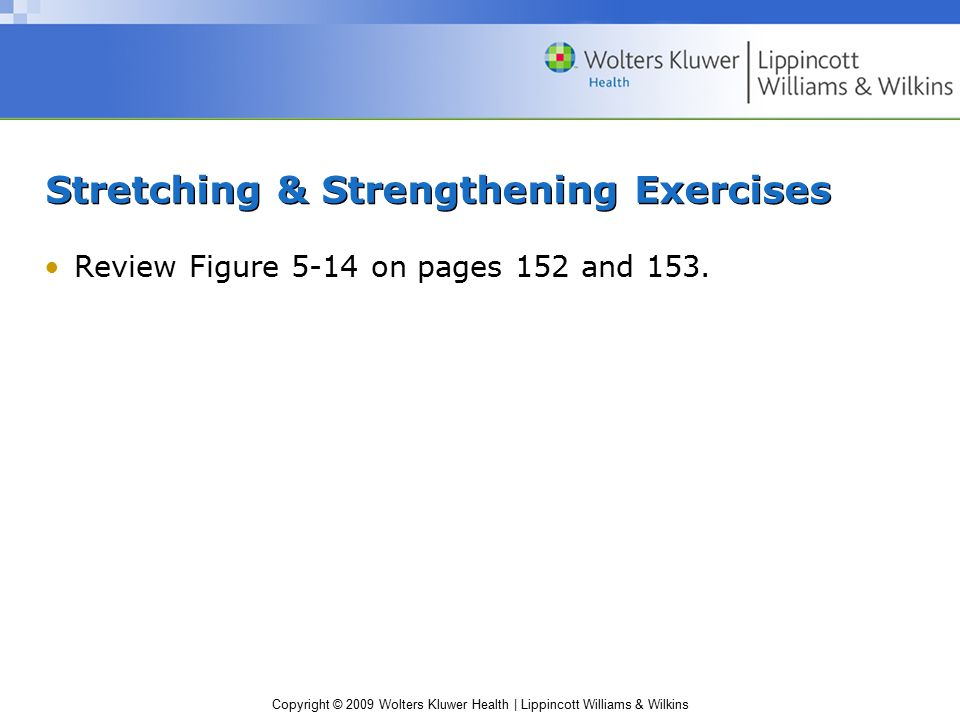 Stretching & Strengthening Exercises