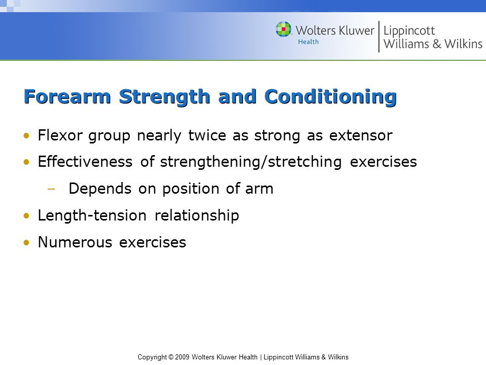 Forearm Strength and Conditioning