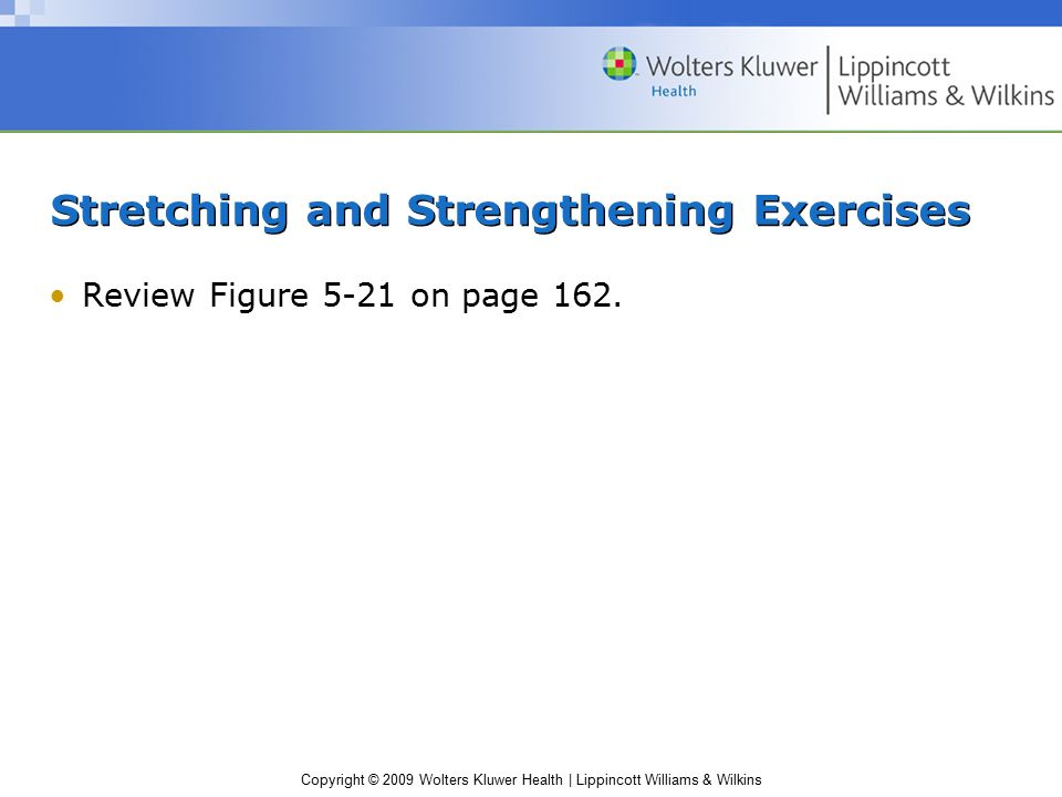 Stretching and Strengthening Exercises