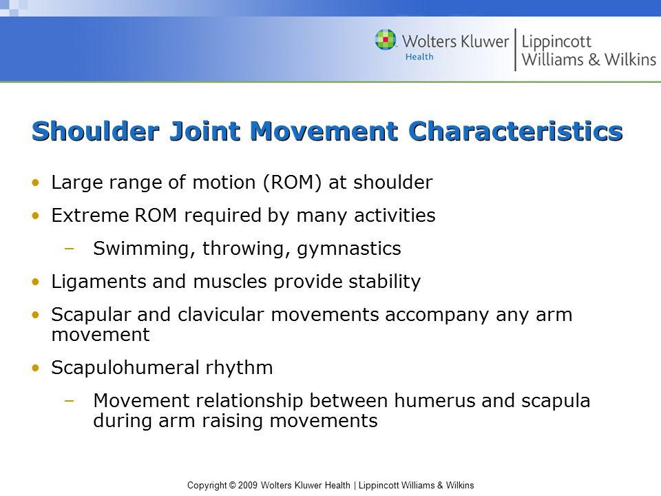 Shoulder Joint Movement Characteristics