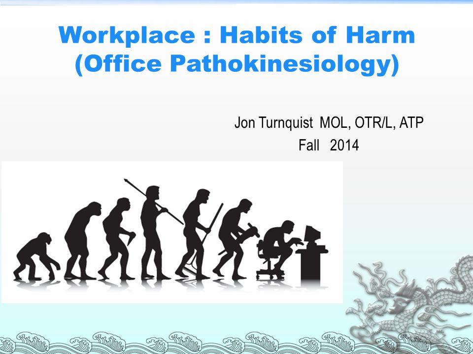 Workplace : Habits of Harm (Office Pathokinesiology)