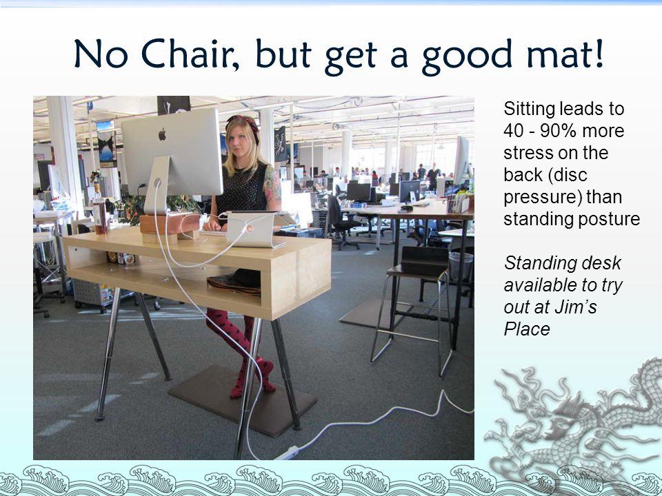 No Chair, but get a good mat!