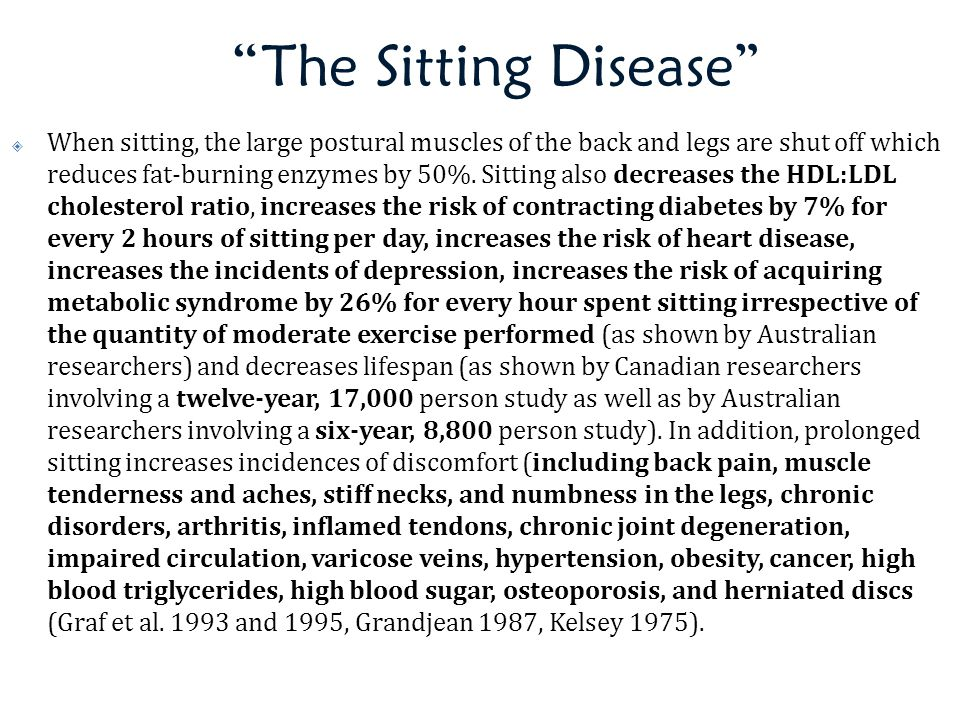 The Sitting Disease