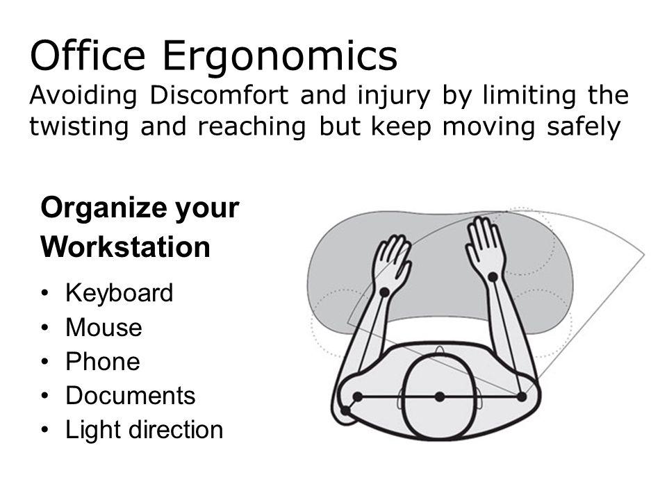 Office Ergonomics Organize your Workstation
