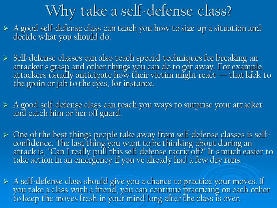 Why take a self-defense class