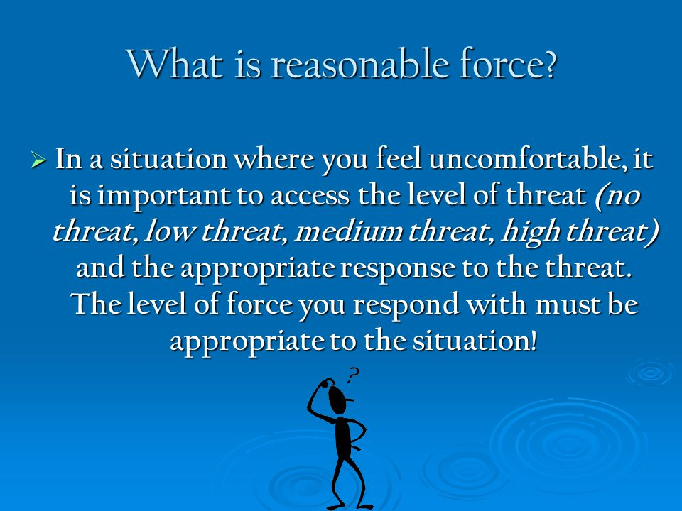What is reasonable force