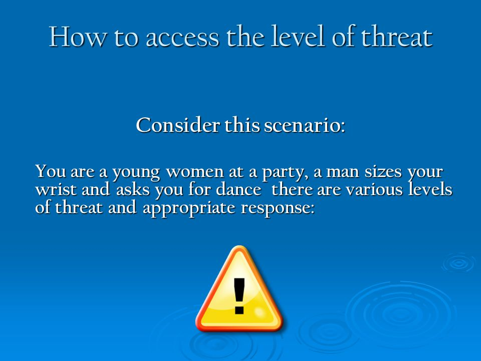 How to access the level of threat