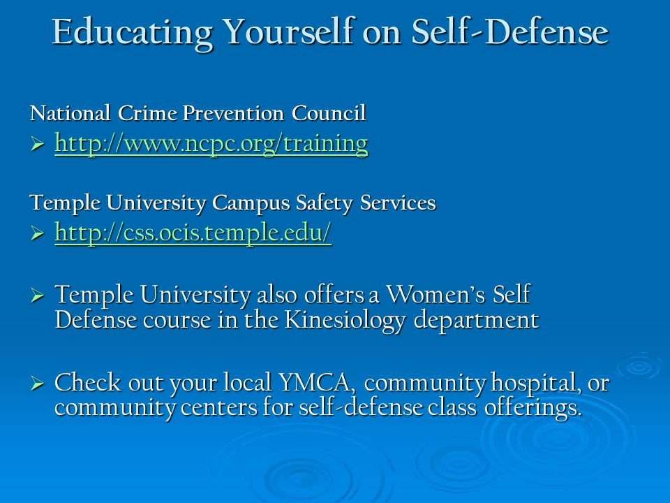 Educating Yourself on Self-Defense