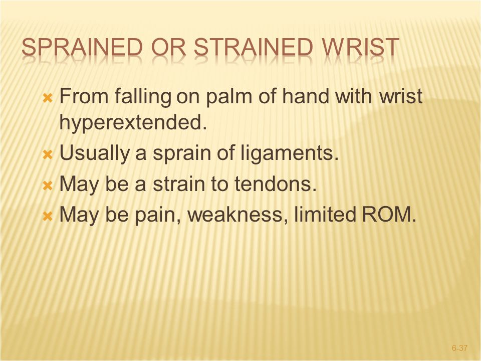 Sprained or Strained Wrist