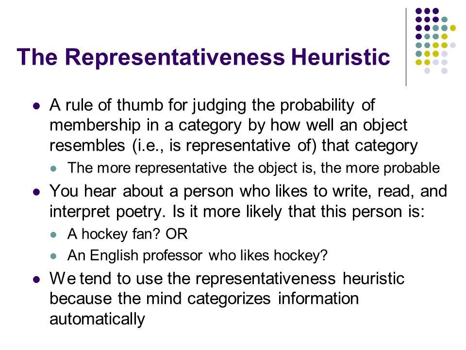 The Representativeness Heuristic