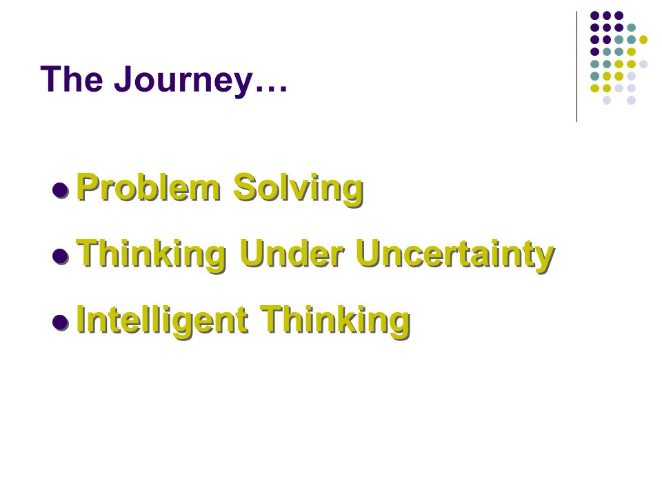 Thinking Under Uncertainty Intelligent Thinking