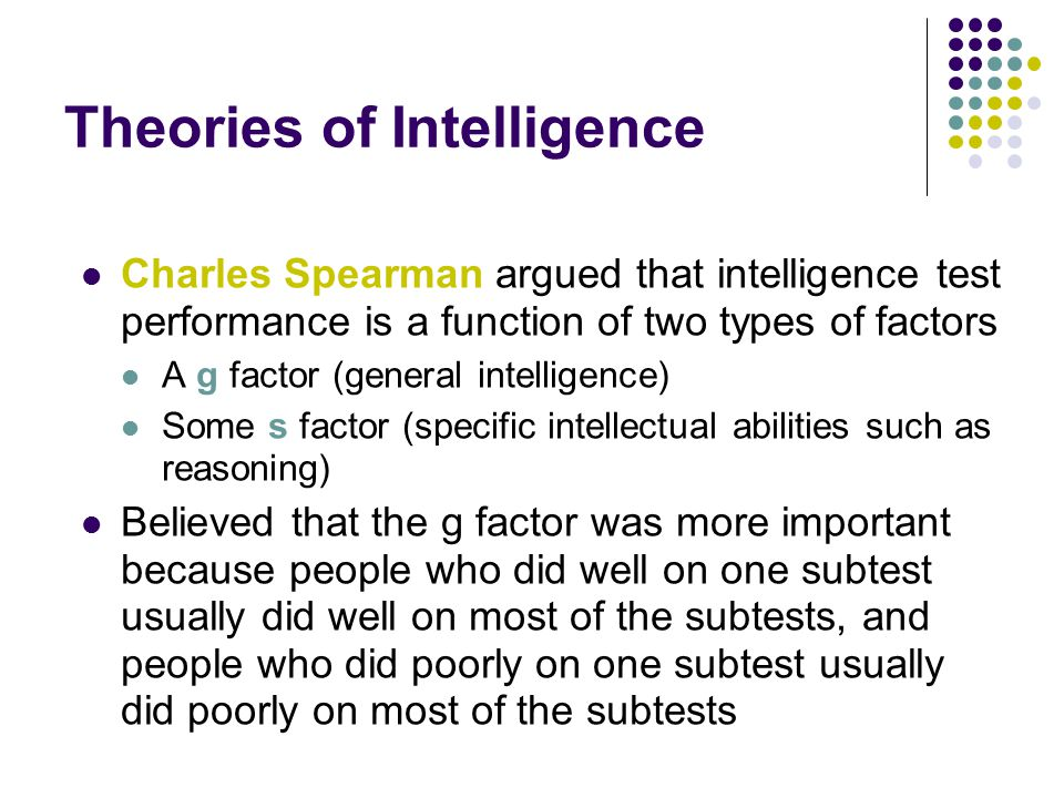 Theories of Intelligence