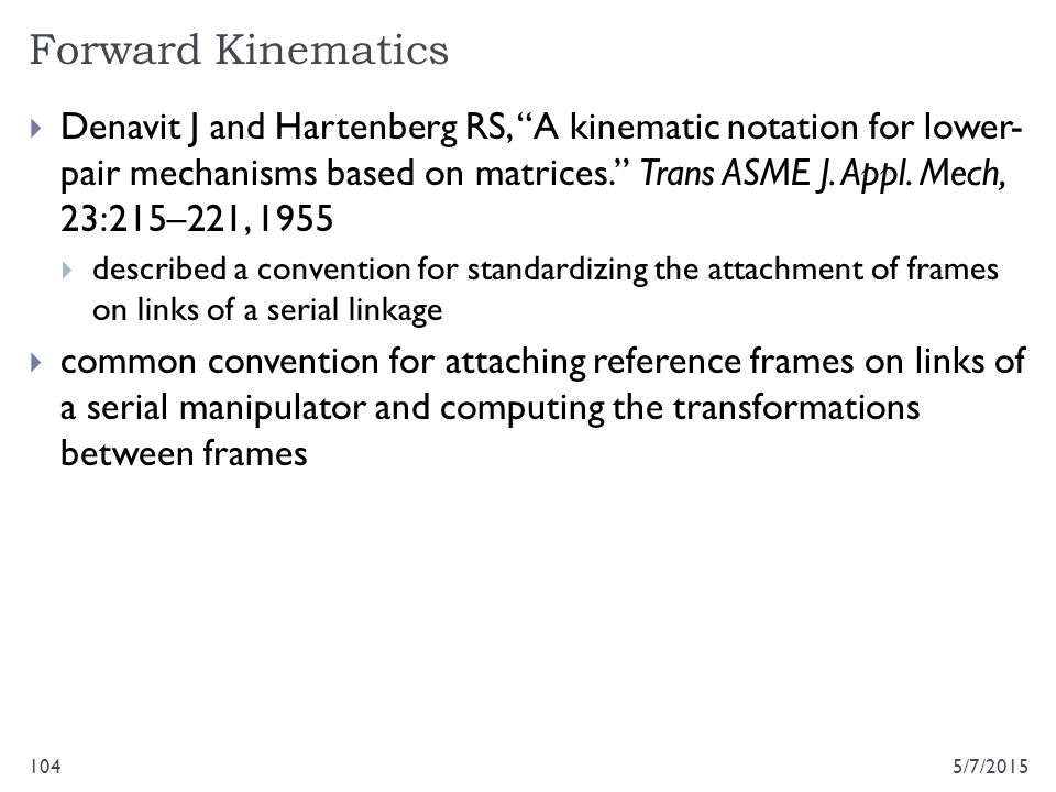 Forward Kinematics