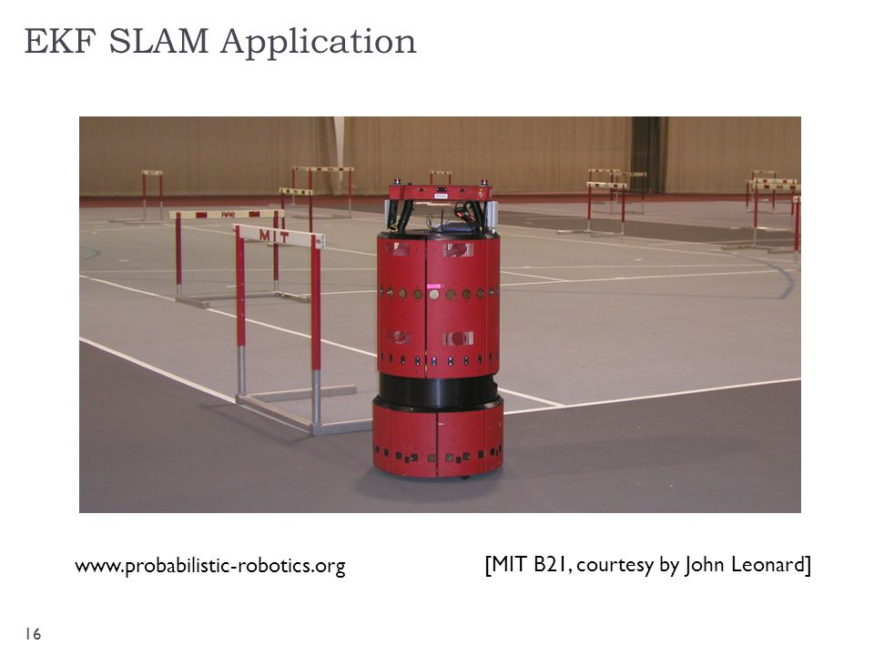 EKF SLAM Application www.probabilistic-robotics.org
