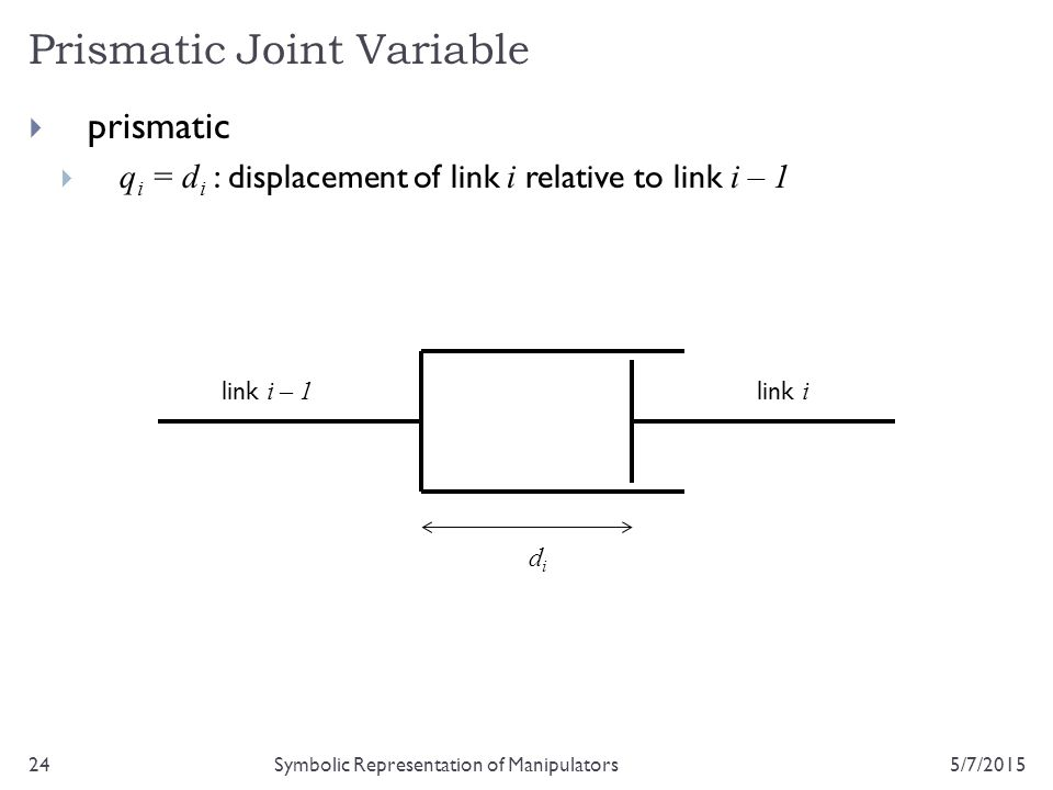 Prismatic Joint Variable