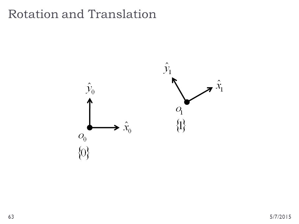 Rotation and Translation