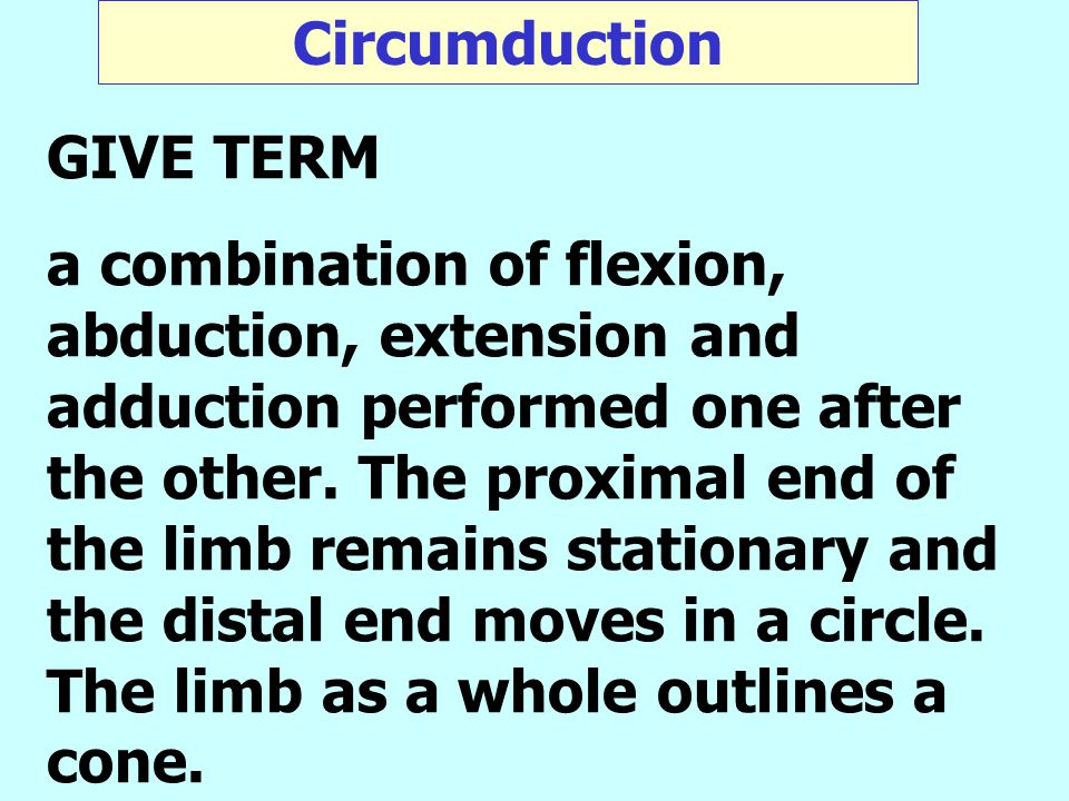 Circumduction GIVE TERM.