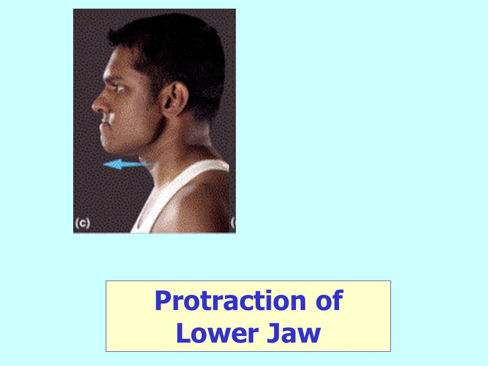 Protraction of Lower Jaw
